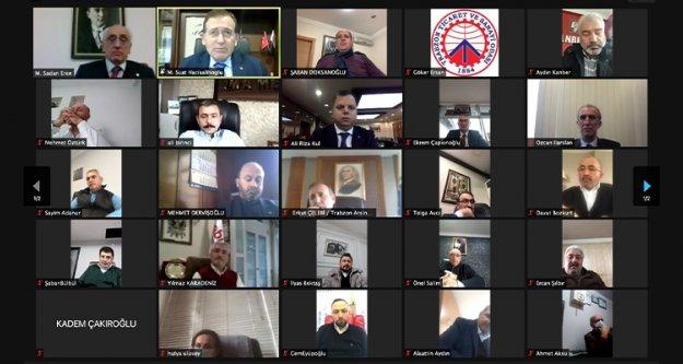 TTSO Meclis toplantısı video konferansla yapıldı.