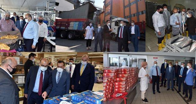 Vali Ustaoğlu ve Başkan Hacısalihoğlu firmaları ziyaret etti