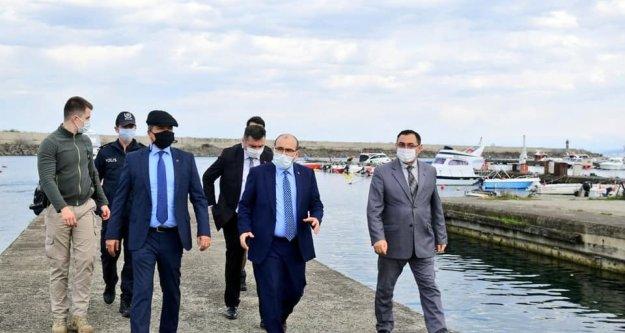 Vali Ustaoğlu Yat Limanında inceleme yaptı.