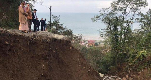 Yoğun Yağış Sonucu Araklı'da İki Mahallede Afet Meydana Geldi...